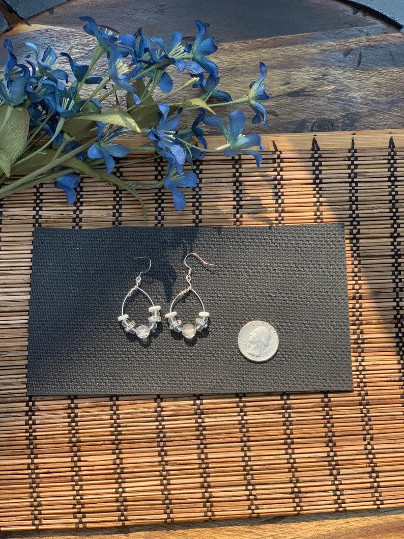 Clear white bling earrings