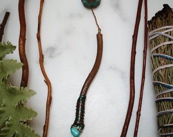 Turquoise Enchanted Wand Necklace