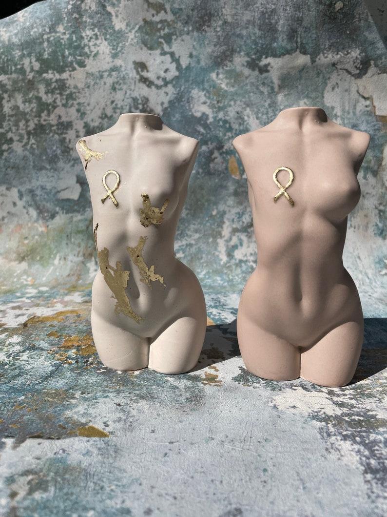 breast cancer awareness goddess  body positivity sculpture