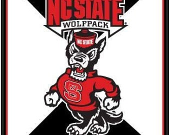NC State University Your Choice of Style, Plain or Color WOLFPACK Tuffy Plaques