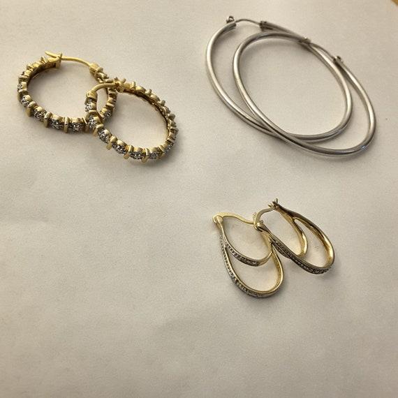 Italy 925 Silver Vermeil Hoop Earrings Vintage Gold Vermeil Hoop Earrings Vintage Gold Vermeil Hoop Earrings Gold Vermeil Hoop Earrings