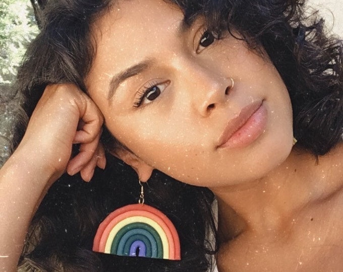 Featured listing image: Big Mama Rainbow earrings