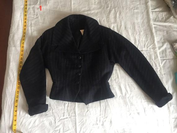 Women's 1940s Vintage Black Wool Jacket
