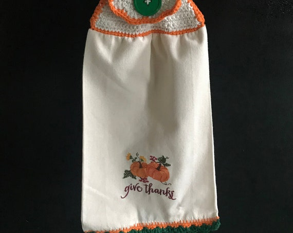 Give Thanks -  Hanging Kitchen Towel