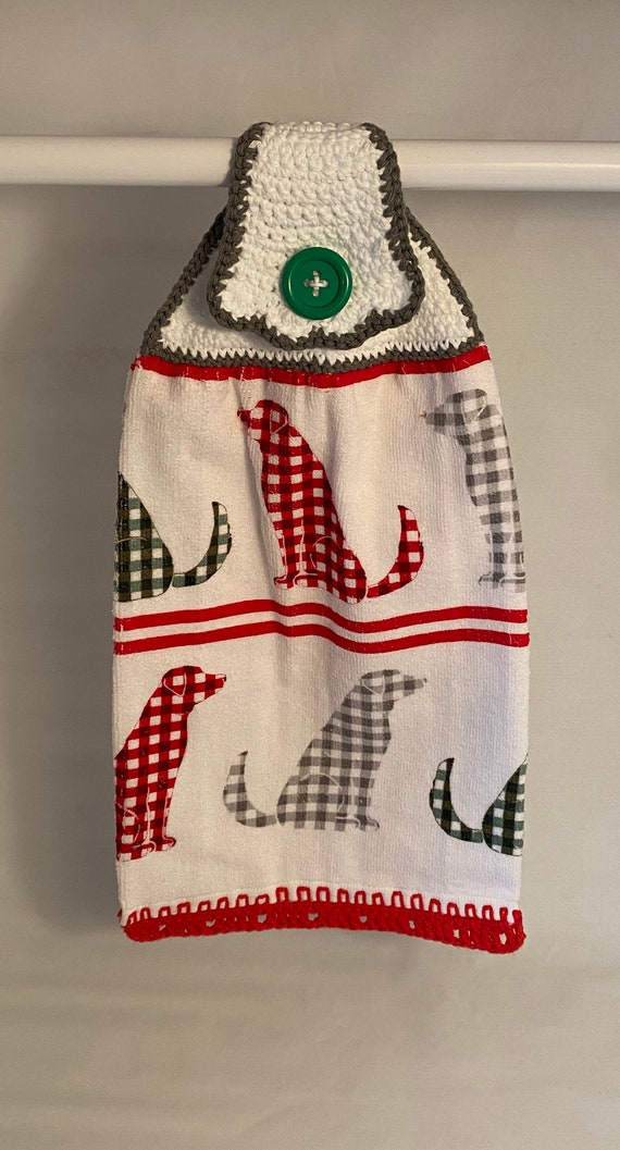 Holiday Dog Kitchen Towel