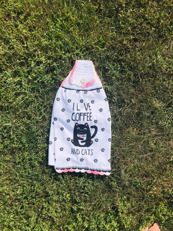 Coffee & Cats Kitchen Towel