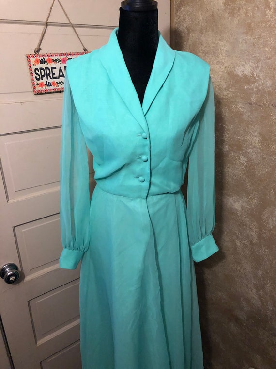 Vintage 50's/60's green dress