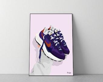 Poster Nike x Sacai Vaporwaffle  'Dark iris'