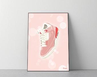 Poster Jordan 3 Retro Rust Pink