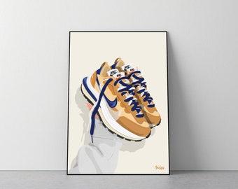 Poster Nike x Sacai Vaporwaffle  'Sesame'