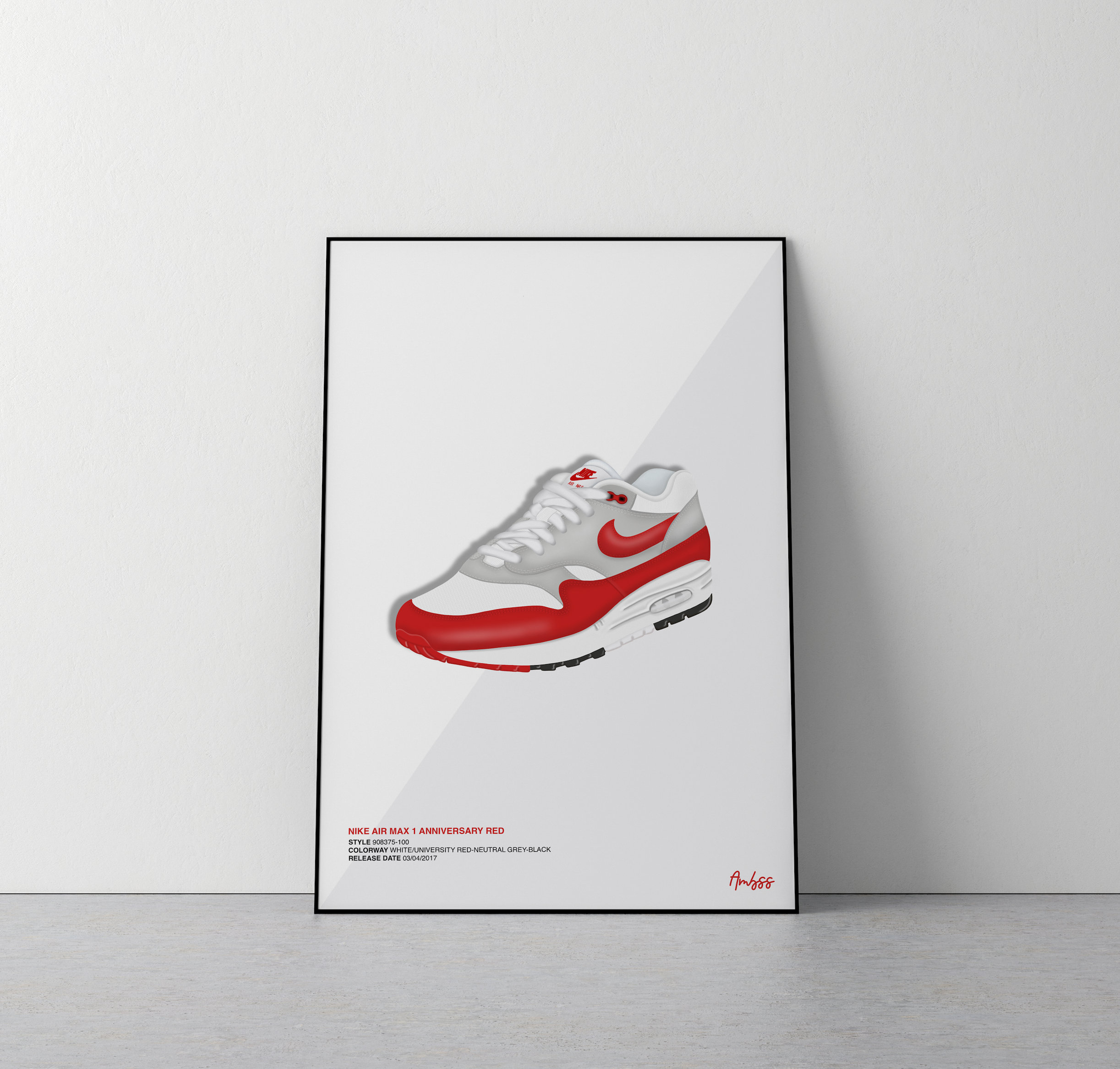 Poster Nike Air Max 1 Anniversary Red