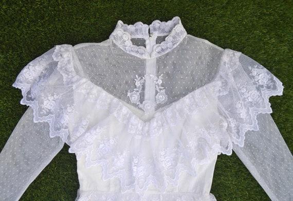 Vintage 1970s Wedding Dress, The Mini Luna, Vinta… - image 7