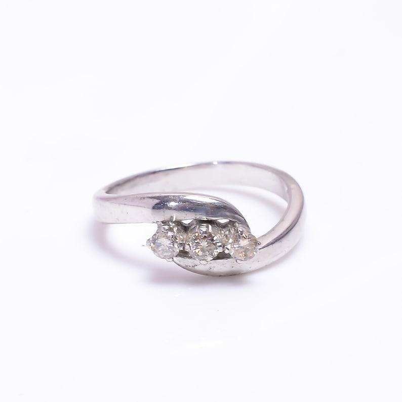 Diamond ring,925 silver ring,Diamond band,Three Stone ring,Anniversary Gift,Gift for her,Wedding gift,Birthday gift,Girls ring,Women ring