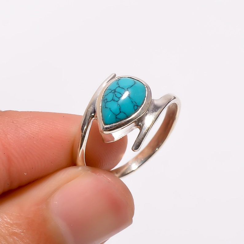 Turquoise Ring,Turquoise Silver Ring Silver Turquoise Ring,925 Solid Sterling Silver Ring,Sterling Silver Ring Turquoise jewelry,Gift Ring