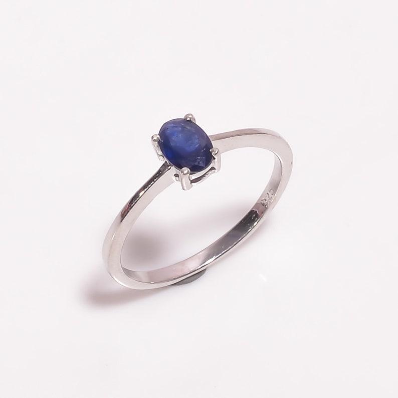 Sapphire Gemstone ring Sterling Silver Ring,Blue Sapphire Ring,Anniversary gift,Birthday gift,Gemstone ring,Girls ring,September birthstone