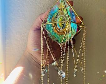 Crystal Suncatcher, Prism Suncatcher, Window Décor, Rainbow Maker, Gift of Good Luck