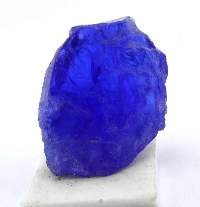 Tanzanite Rough Deep Color Tanzanite Specimen Natural Tanzanite Rough Tanzanite Mineral Tanzanite Crystals Size 21X28mm 62Cts No15