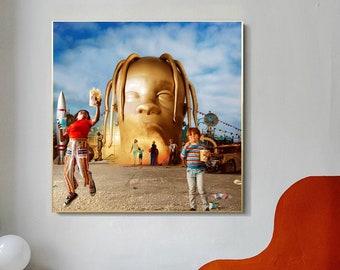 S004 Astroworld Travis Scott Poster Rap Album Cover Hip Hop Wall Art Decor