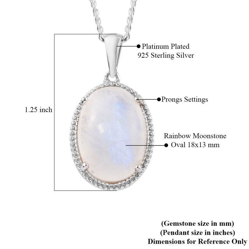 Rainbow Moonstone Necklace Gift For Mom Rainbow Moonstone Pendant Blue Fire Moon Pendant 925 Sterling Silver Pendant Boho Silver Pendant
