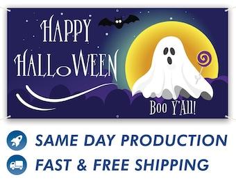 Happy Halloween Vinyl Banner