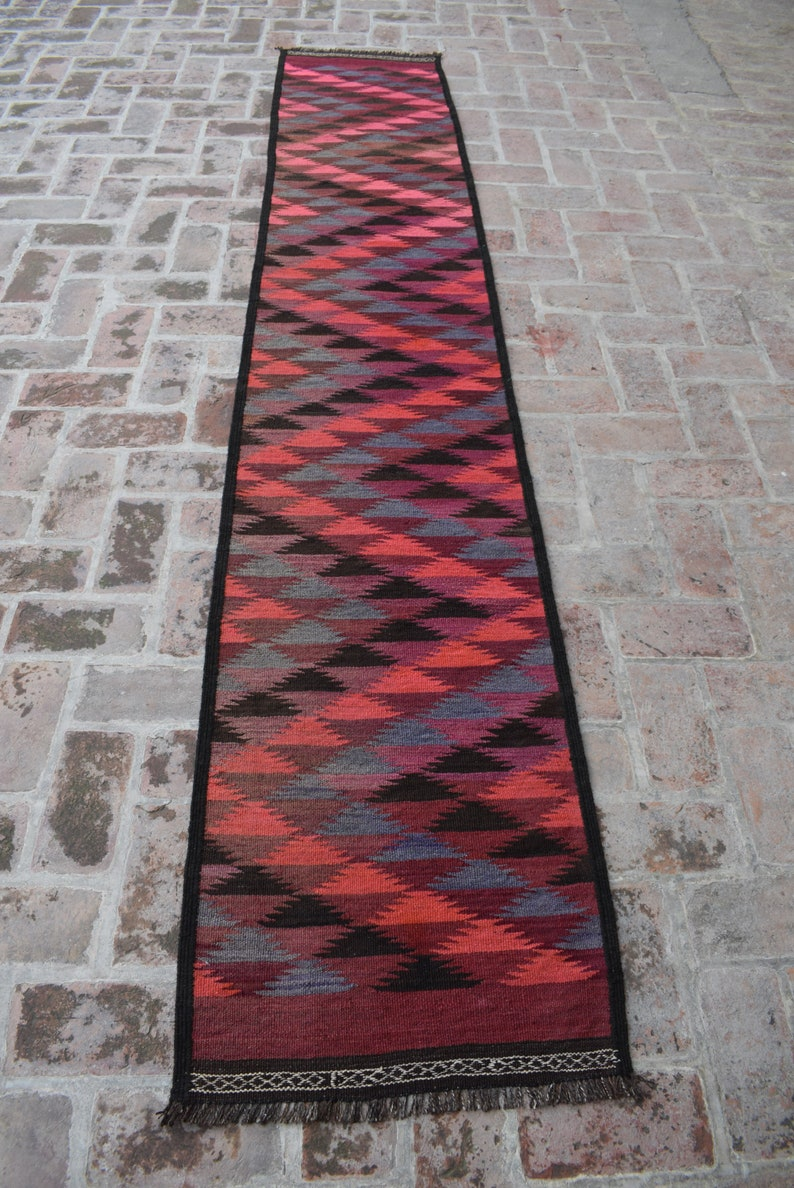2 x 11.3 feet Handmade 100/% Wool Kilim Rug Elegant Vintage Afghan Tribal Kilim Runner Boho Home Decor Hallway Rug WholeSale Price