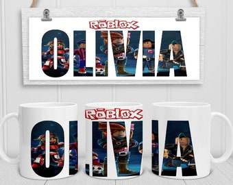 PERSONALISED ROBLOX MUG WITH NAME BIRTHDAY CHRISTMAS GIFT FOR ALL OCCASIONS