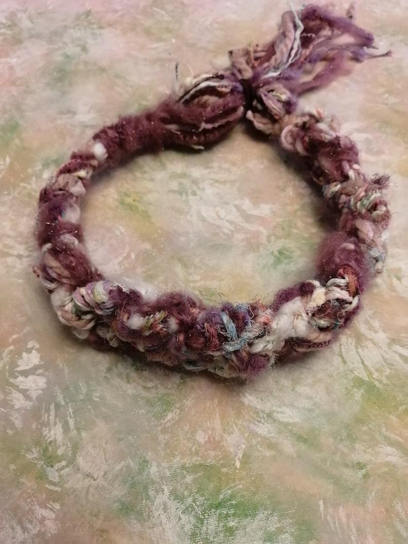 Frosty Vineyard multipurpose woven braid headband