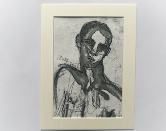 Original, signed, framed, portrait, male nude, painting, illustration, gay, homoerotic, sexy, tom of Finland, LGBTQ, small