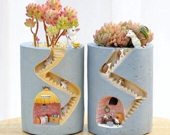 Ornament Plant Pots - Flowerpot Succulents Planter - Hedgehog Ceramic Pot - Cactus Rabbit Planter Pot