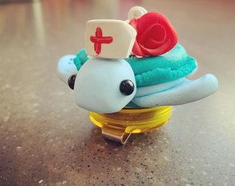 Macaron Turtle Badge Holder