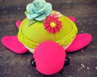 Flower Macaron Turtle