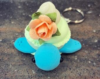 Macaron Turtle Keychain