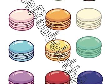 Macaron Stickers