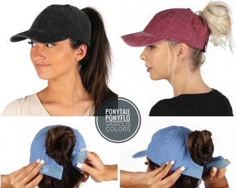 Ponytail Messy Baseball Cap Cross Criss Cross Hat-Verstellbar Pferdeschwanz Cap Womens Baseball Cap Mesh Baseballkappe