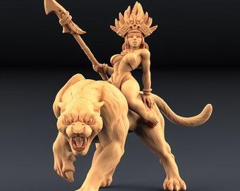 D&D Miniature - Kaata - Princess on Panther