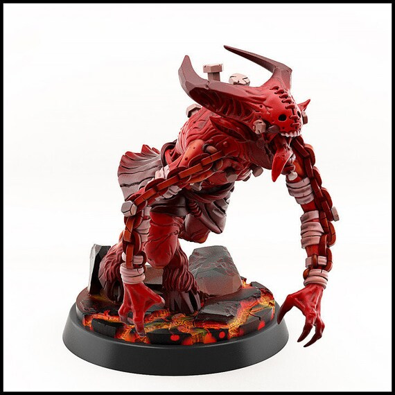 Painted 25mm Demon #1