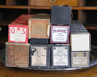 Vintage Player Piano Rolls - paper music