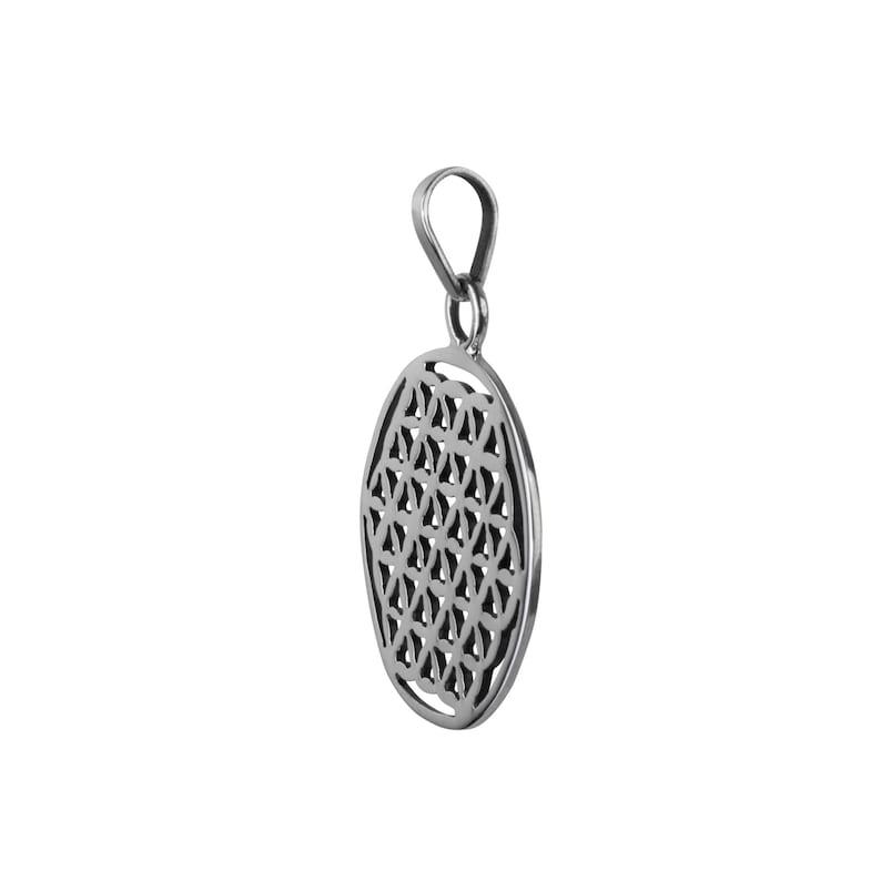 Magic Charm Power Symbol,Silver Pendant Silver Meditation Pendant Flower of Life Pendant,Silver Pendant unisex Jewelry Silver Symbol