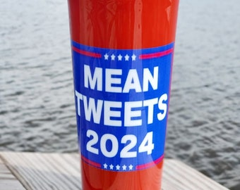 Mean Tweets 2024, Trump 2024 Collage Stainless Steel Tumbler,Mean Tweets 2024, Republican Patriot Gift, Political Gifts,Desantis 2024