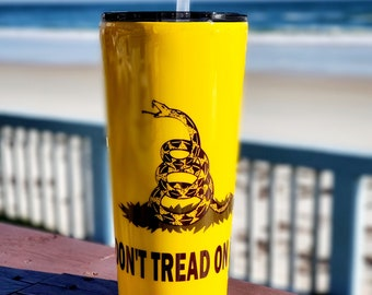 Don't Tread On Me 2A, Custom Trump Stainless Steel, 2A Drink Tumbler