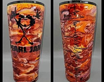 Pearl Jam Red Tumbler, Pearl Jam, Music Lover Gift, Stainless Steel Custom Epoxy Tumbler, Eddie Vedder Inspired, She Dreams In Red Tumbler