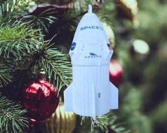 Nasa SpaceX Crew Dragon DM-2 Capsule Ornament - for Christmas Tree