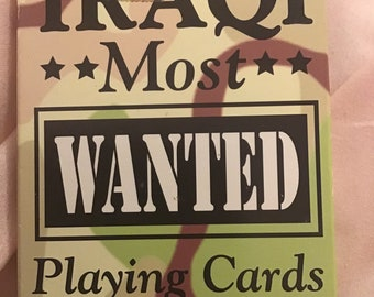 Iraq most wanted playing cards swat car junk journal scrapbooking