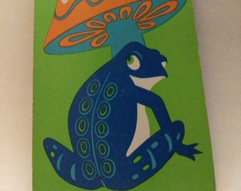 NOS Vintage playing cards frog and mushroom groovy 60s