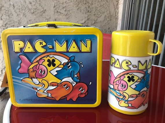 SUPER CLEAN Pac Man Vintage Lunch Box  1980