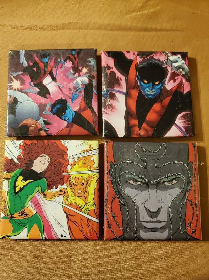X-men set of 4 coasters