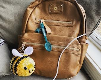 Crochet velvet bee plush