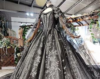 Custom Black Wedding Dress Gothic Wedding Dress Fantasy Etsy,Small Wedding Casual Simple Beach Wedding Dresses