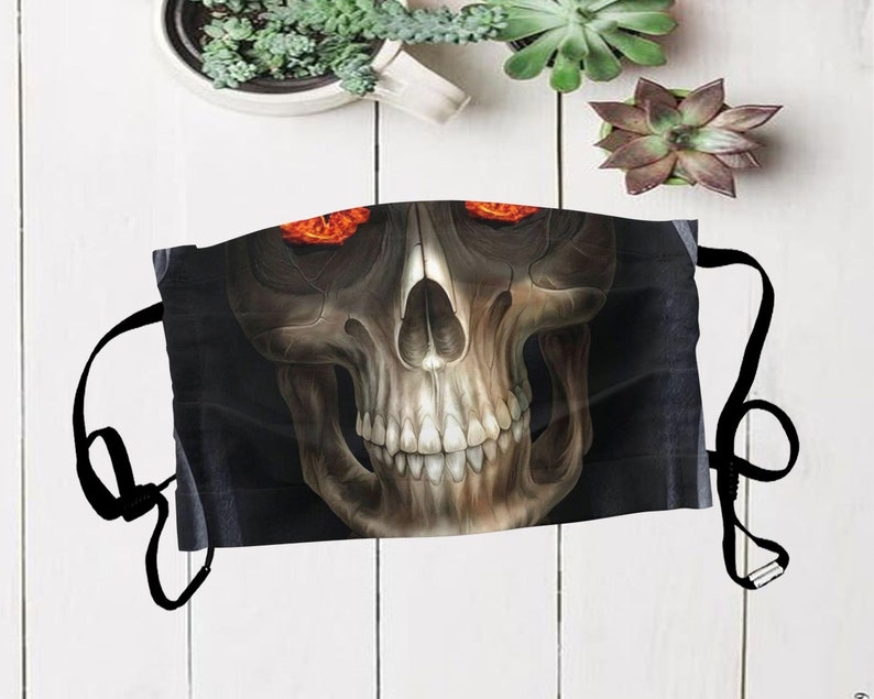 Skull mask Reusable Protective Face Mask Day of the Dead image 0