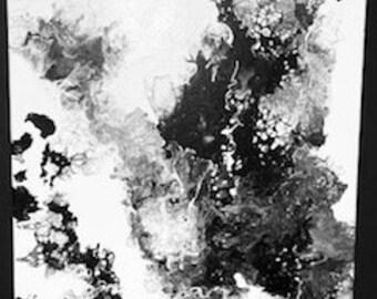 Vintage 80s TESS Art Blouse Finger Paint Canvas Bleach Splatter Pattern Print Sleeveless Button Collared Shirt 100/% Cotton Womens 12 Petite